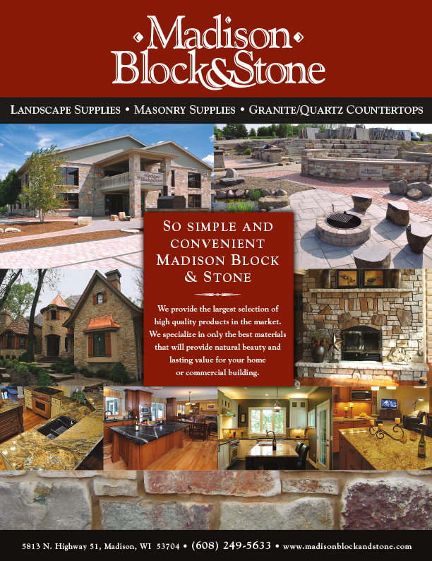 Madison Block and Stone flyer