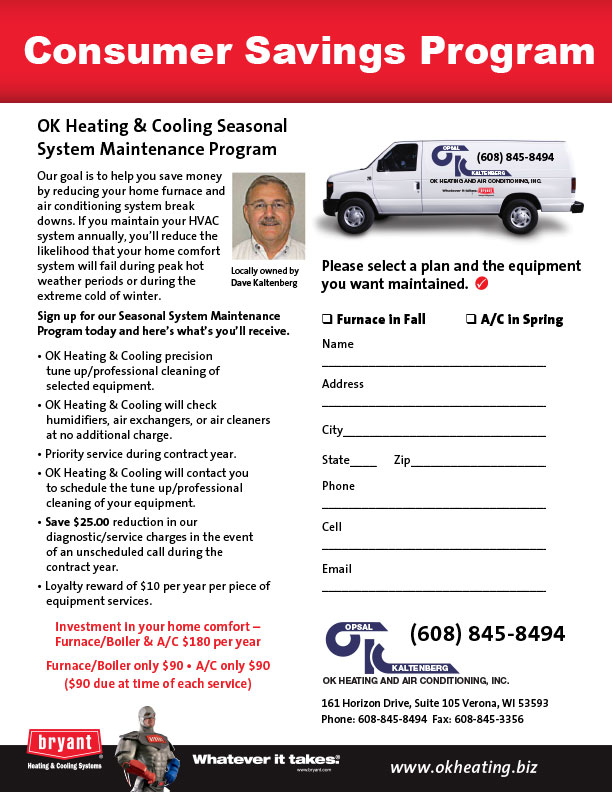OK Heating and Cooling sellsheet