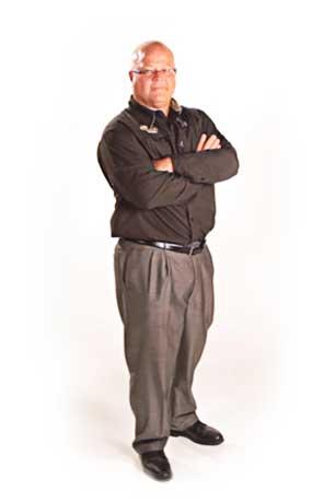 John Russel standing